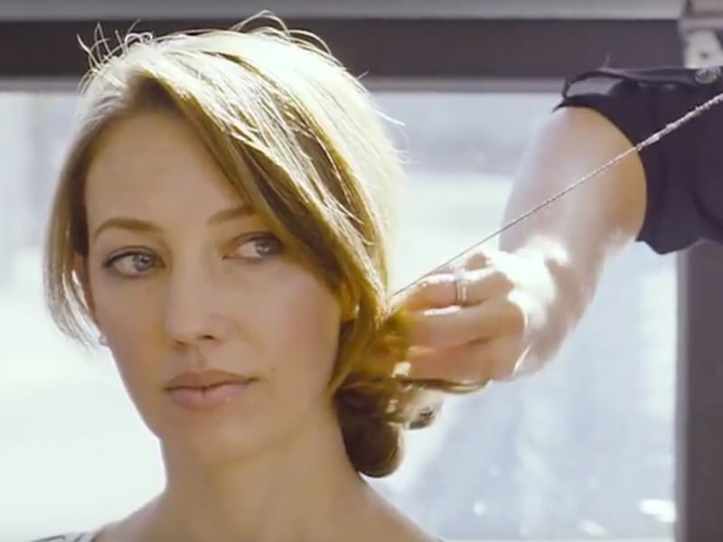 DIY Braided Updo with Hair Sewing
