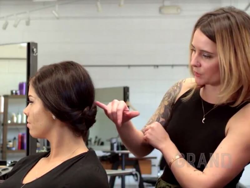 Holiday Braided Updo Tutorial